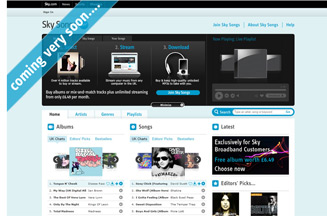 Sky rivals Apple and Spotify with music download launch