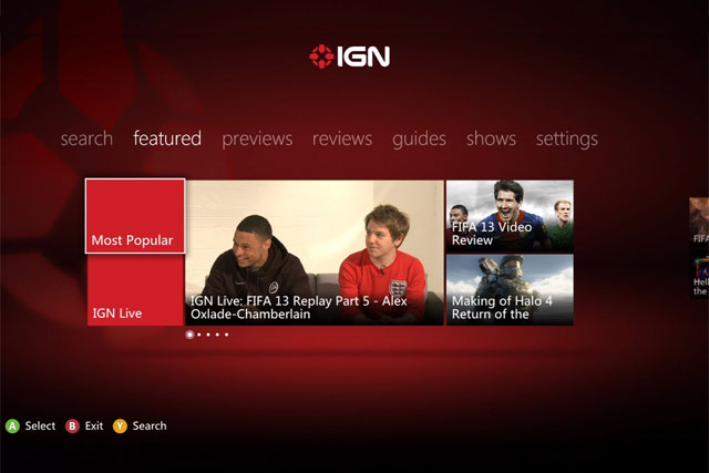 IGN: launches first Xbox Live app
