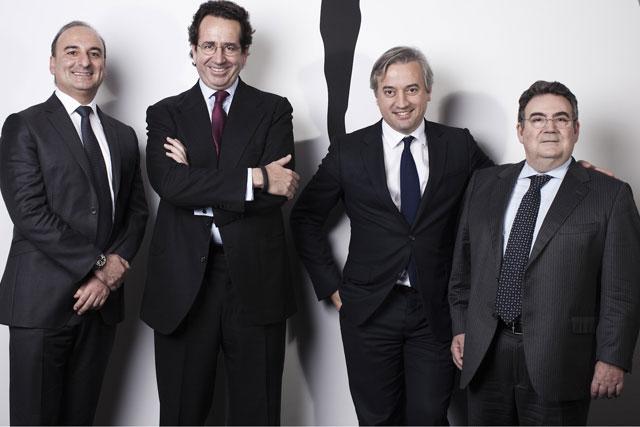 Havas Media management team:  Michel Sibony, Alfonso Rodes, Dominique Delport and Jordi Ustrell