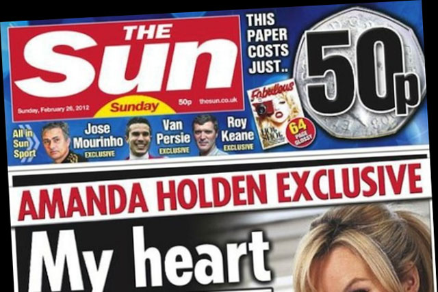 The Sun on Sunday: unofficial reports claim a drop in sales