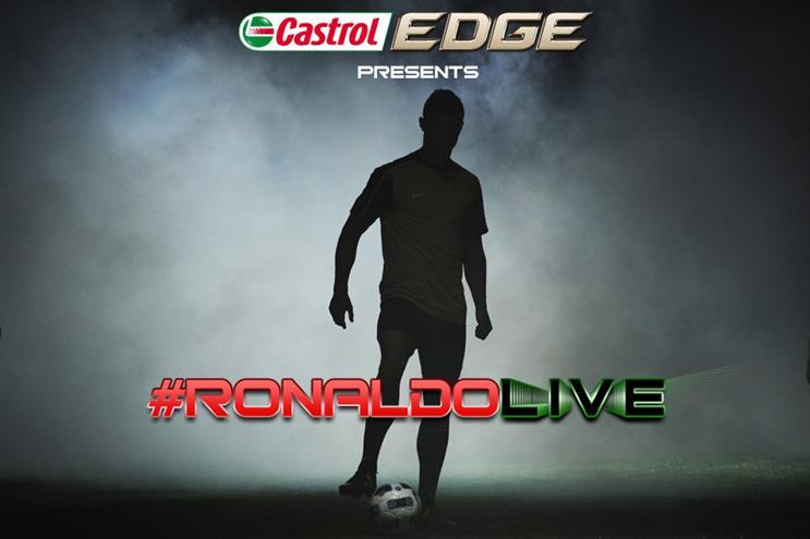 Ronaldo: starring in Castrol Edge documentary