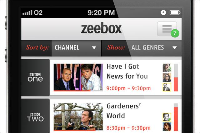 Zeebox: launches iPhone app