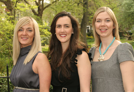 The three founders of new women-only club Bloom. Left to right: Kirsty Barnes-Spickett from SMV, Belinda Stacey from A&N Media and Katie Treggiden from Kindred