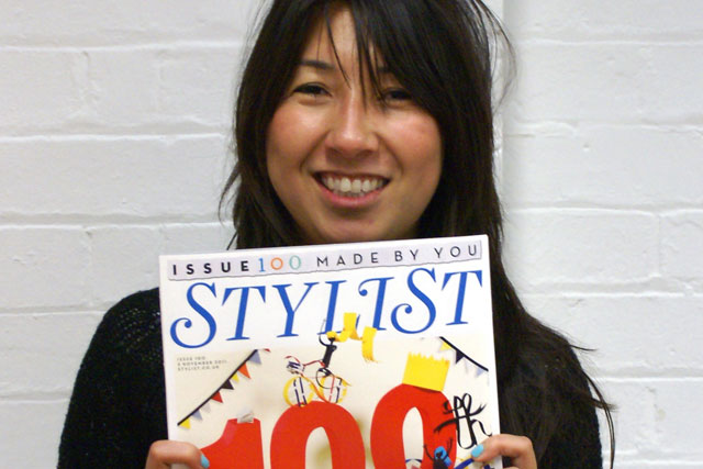 Yasmeen Ismali: holding her winning Stylist cover