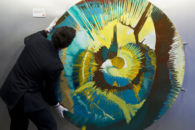 Flame Grilled: Damien Hirst work is on show at Burger King in Leicester Square