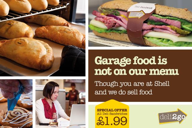 Shell: promotes Deli2go food range