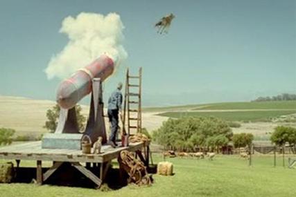 Yazoo: flying cow TV spot