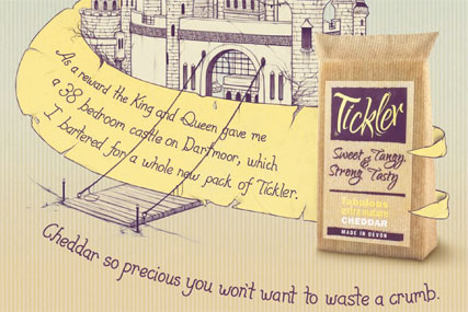 Tickler: chedder ad by Albion London