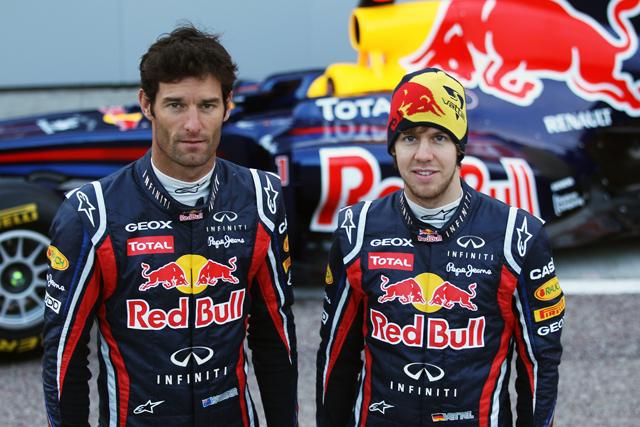 Drivers Mark Webber and Sebastian Vettel will be driving for Infiniti Red Bull Racing