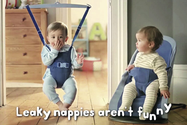 Still from recent Huggies campaign