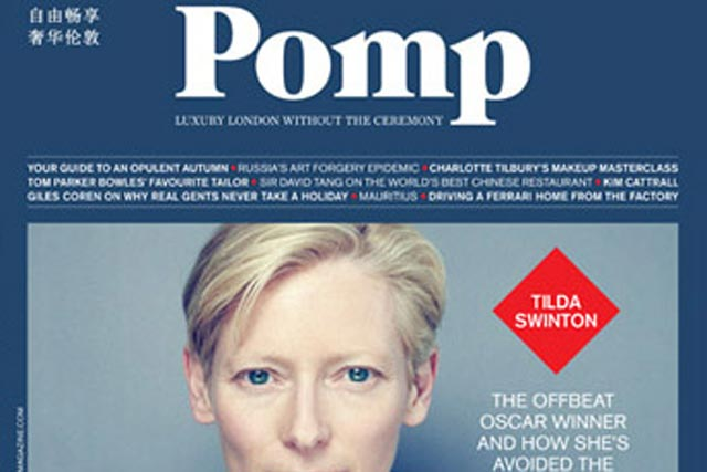 Pomp magazine: has created a dedicated Mandarin-language section
