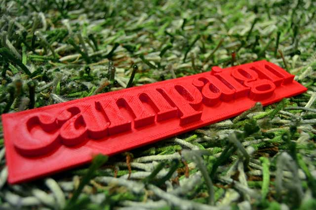 3D printing of Campaign logo