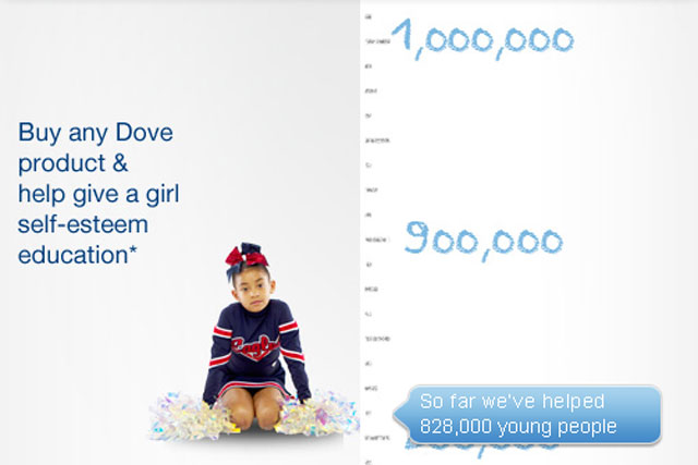 Dove: launches self-esteem activity on Facebook
