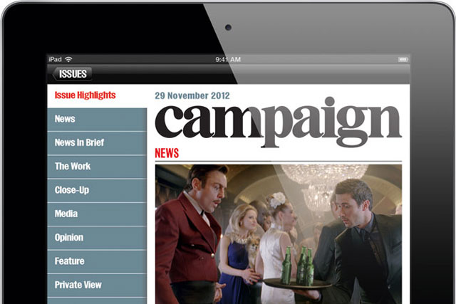 Campaign launches weekly iPad edition