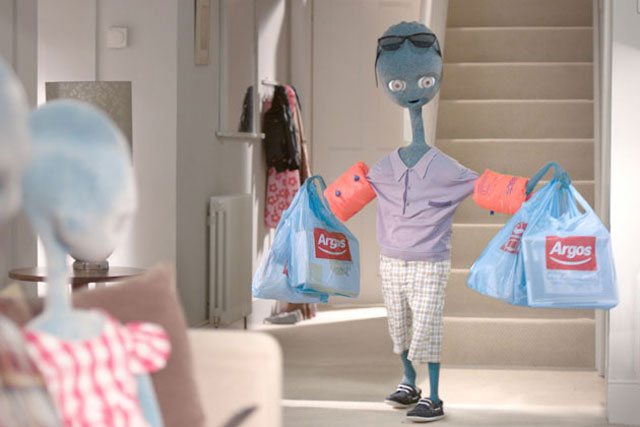 Argos: alien characters to return in new ad this weekend