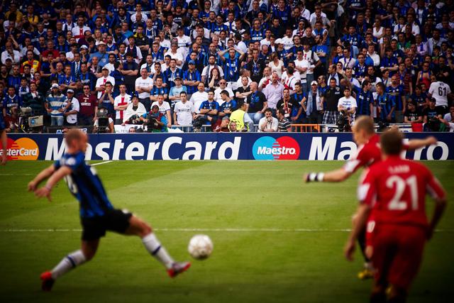 MasterCard: has sponsored Champions League football since 1994