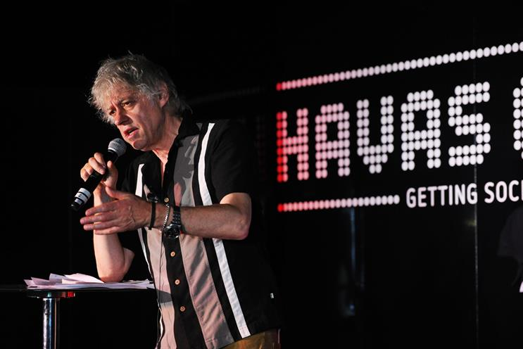Geldof: takes aim at the level of pay musicians receive through digital downloads on Apple's iTunes