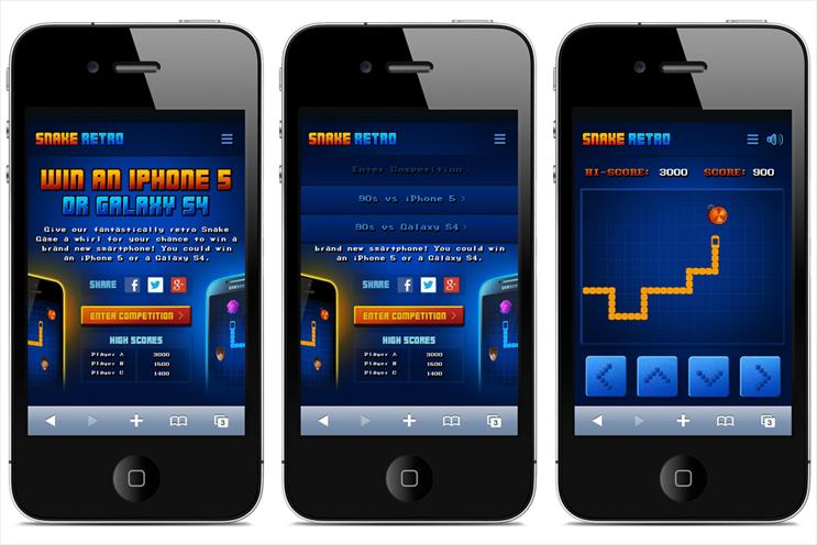 Snake: Carphone Warehouse rolls out retro game