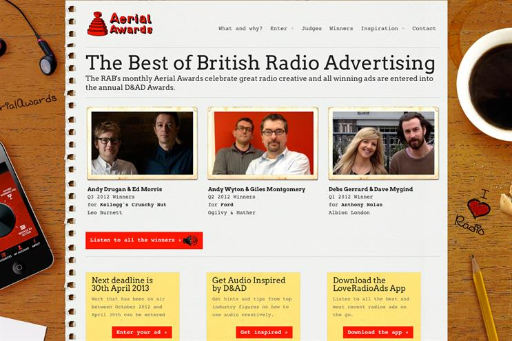 Aerial Awards: the RAB has relaunched the scheme as a monthly, rather than quarterly, contest