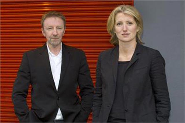 Karen Buchanan: right, with Publicis UK chairman and chief executive Nigel Jones