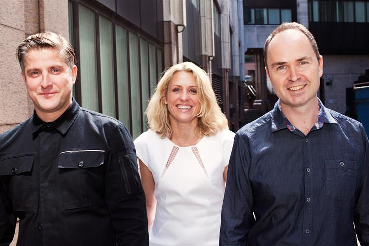 Lucky Generals: Brooke-Taylor, Calcraft and Nairn (l-r) are looking for creative solutions beyond traditional advertising