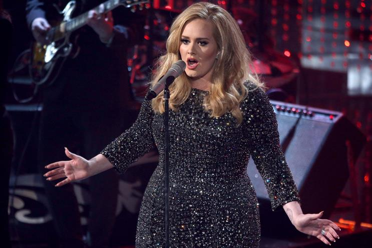 image by Getty Images. Adele: contributed to the increase in global music sales