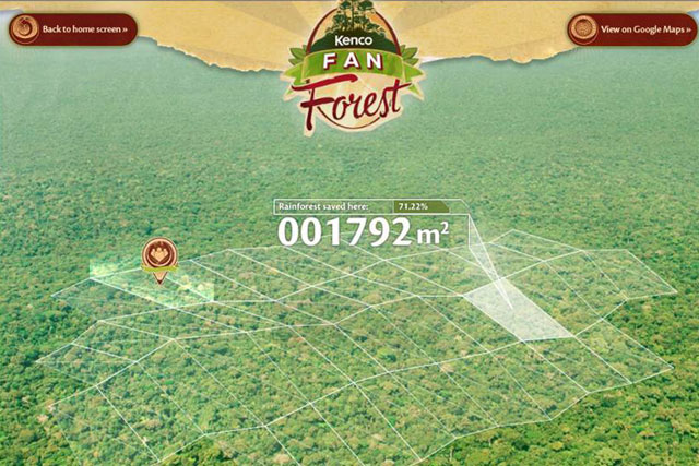 Kenco: Facebook campaign promotes conservation of  Colombian rainforest