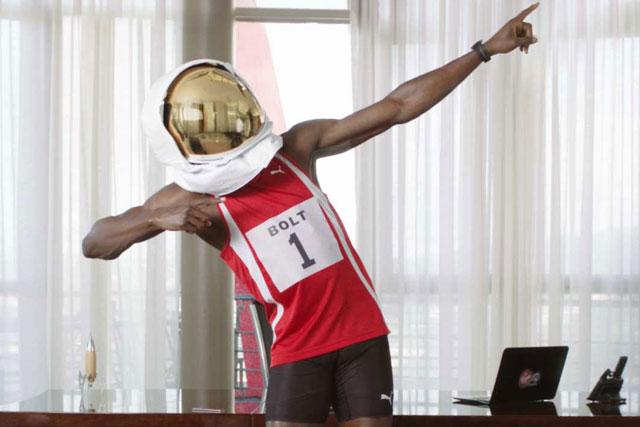 Usain Bolt: stars in Virgin Media TV campaign