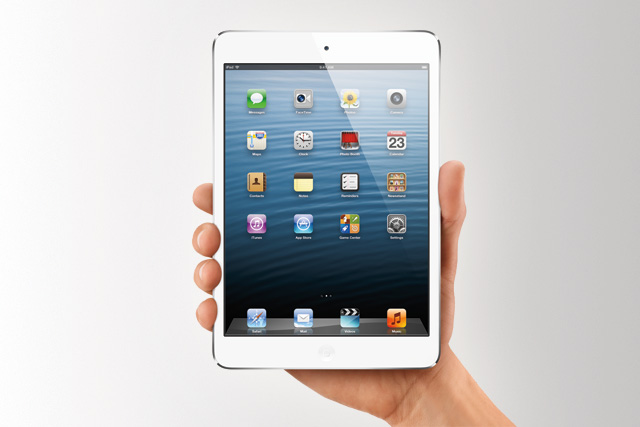 Apple's iPad Mini: fits in one hand