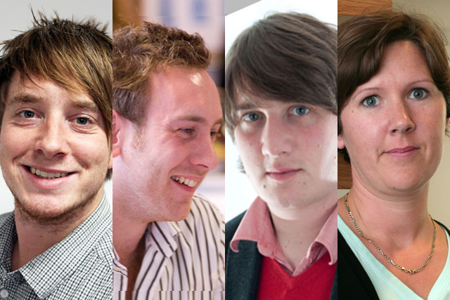 Radio buyers: Tom Thacker, James Tyrell, Ross Nester and Erica Taylor