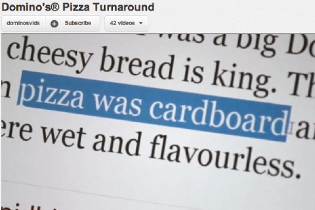 Domino's Pizza: monitors social media