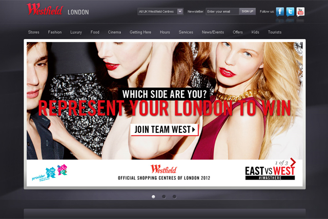 Westfield: East vs West social media campaign
