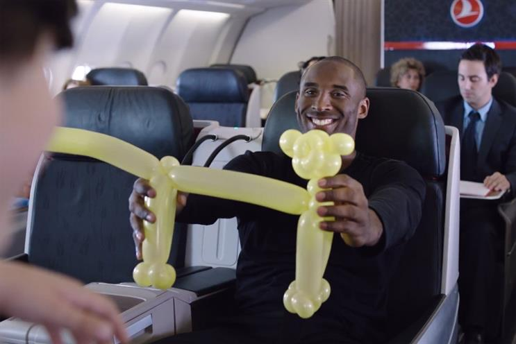 Kobe Bryant: stars in Turkish Airlines' most-shared ad