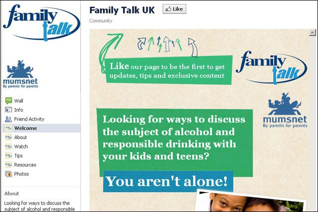 Family Talk UK: AB Inbev launches responsible drinking advice hub on Facebook