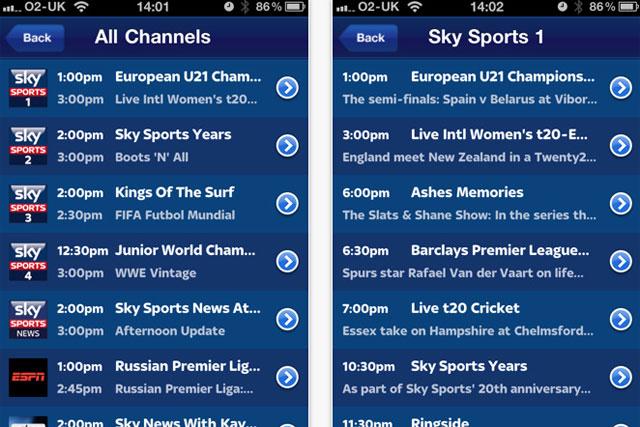 Sky Go: tops the BR app chart
