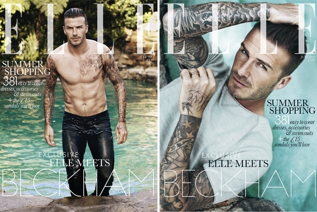 David Beckham: Elle's first solo male cover star
