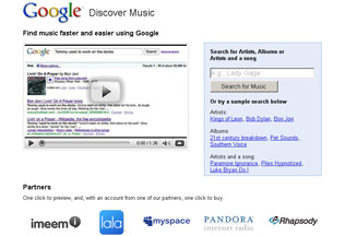 Google reveals music-search service