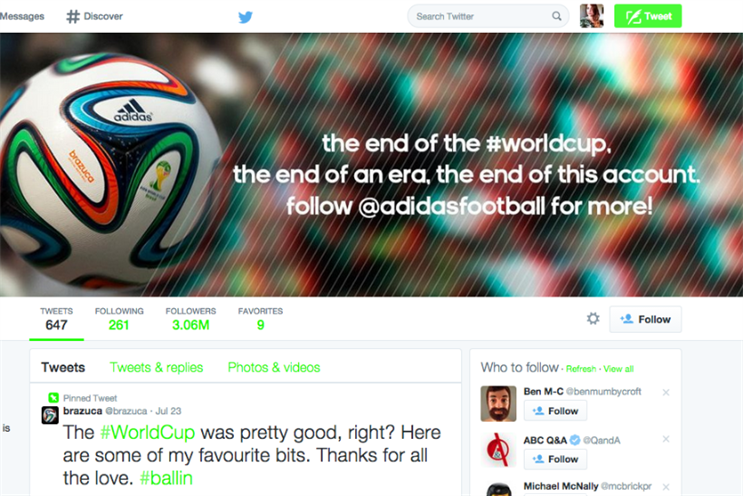 Adidas: killed Brazuca account for fear of 'alienating' the community