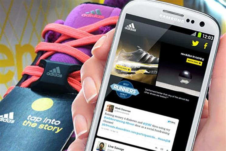 Adidas: the NFC-enabled shoes were among the topics at Saturday's SXSW wearables session