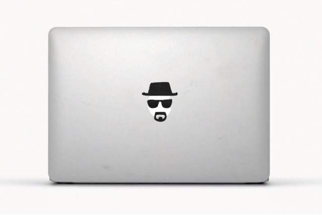 Apple ad: Walter White is one of the many images used to customise consumers' MacBooks