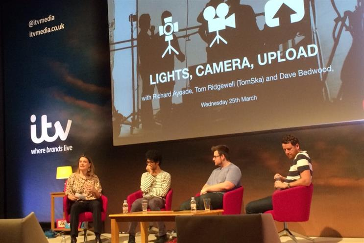 Lomax, Ayoade, Ridgwell and Bedwood: onstage at Advertising Week Europe