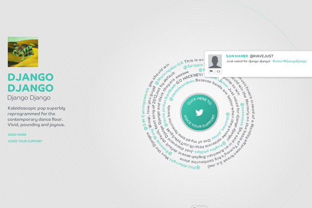 Barclaycard: runs Mercury Prize Twitter campaign
