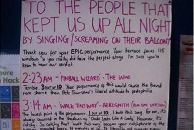 Karaoke complaint: Oli Beale's review of his noisy neighbours' performances