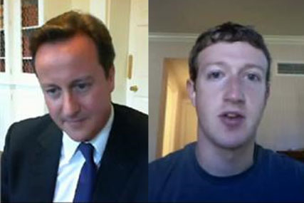 Prime Minister David Cameron and Mark Zuckerberg