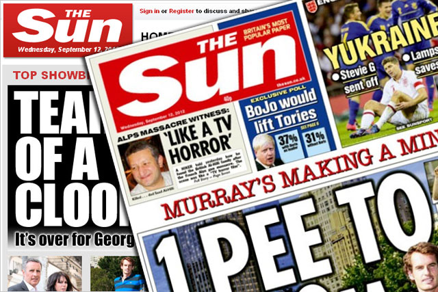 The Sun: website and newspaper had an overall average readership of 17.8 million