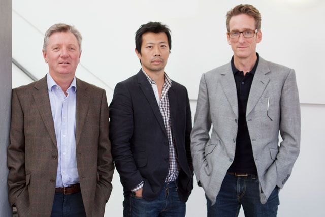 VCCP…Michael Lee (centre) will work alongside the founding partners Adrian Coleman (left) and Charles Vallance (right)