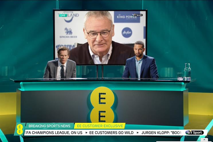 Kevin Bacon and Rio Ferdinand appeared together in joint EE/BT Sport ad