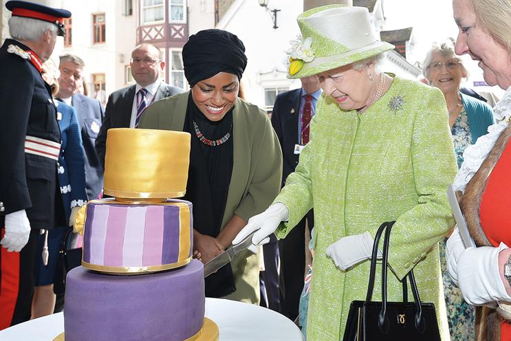 Royal icing: Bake Off winner Hussain with the Queen