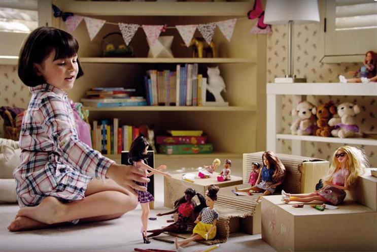 "Mattel's ""imagine the possibilities"" campaign for Barbie"