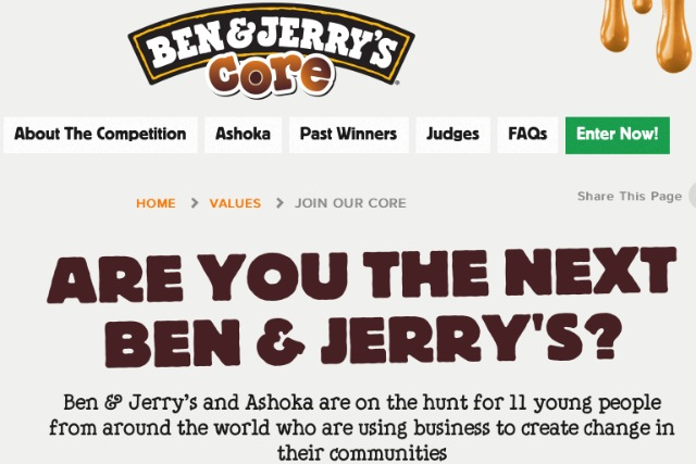 Ben & Jerry's: launches international competition for social enterprise start-ups
